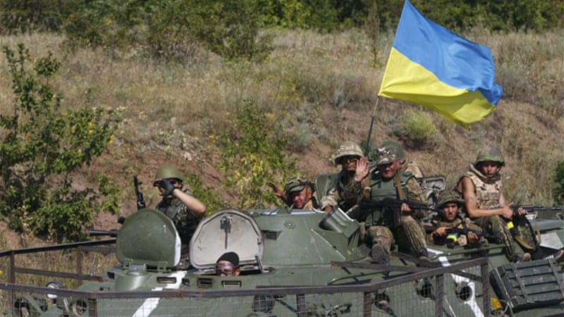 The Ukrainian army is closing in on the rebel strongholds of Donetsk and Luhansk [Reuters]