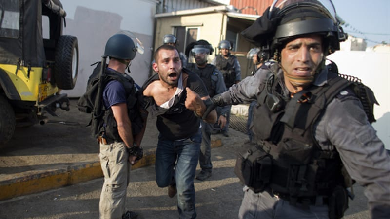 Palestinian citizens of Israel have been detained for protesting, or given house arrest or community service [AFP]
