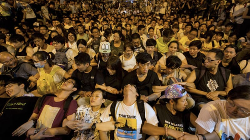 There have been protests in Hong Kong in recent weeks against apparent Chinese moves to stifle democracy [EPA]