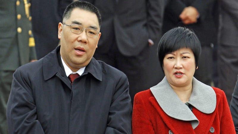 Chui, seen with his wife Winnie Fok, was first elected as chief executive of Macau in 2009 [EPA File Photo]