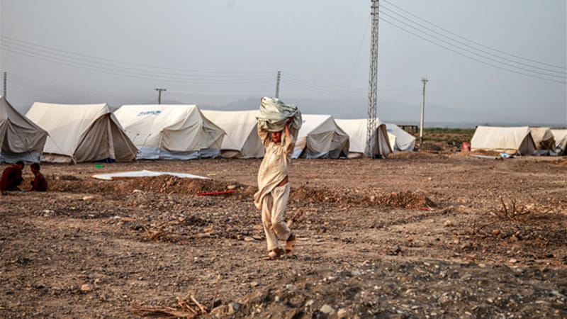 The estimated number of displaced people is more than one million in northwest Pakistan [UN/Sara Farid]