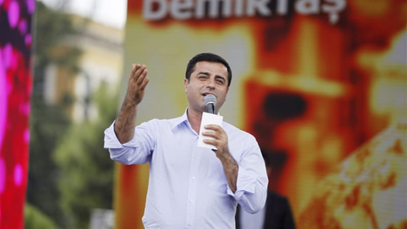 Selahattin Demirtas has garnered most of his support from Turkey's Kurdish citizens and left-wing voters [Reuters]