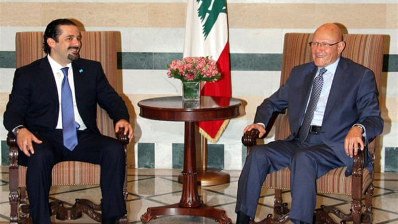 Hariri held a brief meeting with Prime Minister Tammam Salam after arriving in Beirut [AFP]