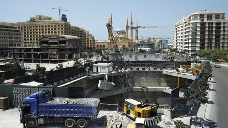 Beirut's city centre has seen rapid development in recent years, leading to a loss of green space [Reuters]