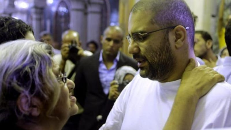 Seif's brother, prominent Egyptian blogger Alaa Abdel Fattah, was arrested but subsequently released [AP]