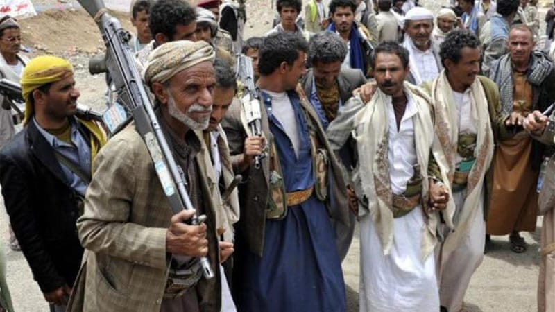 Houthi protesters have been encamped in Sanaa for weeks to try to oust the government [EPA]