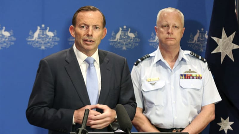 Tony Abbott (L) said the deployment of the Australian forces focused on Iraq and not Syria [EPA]