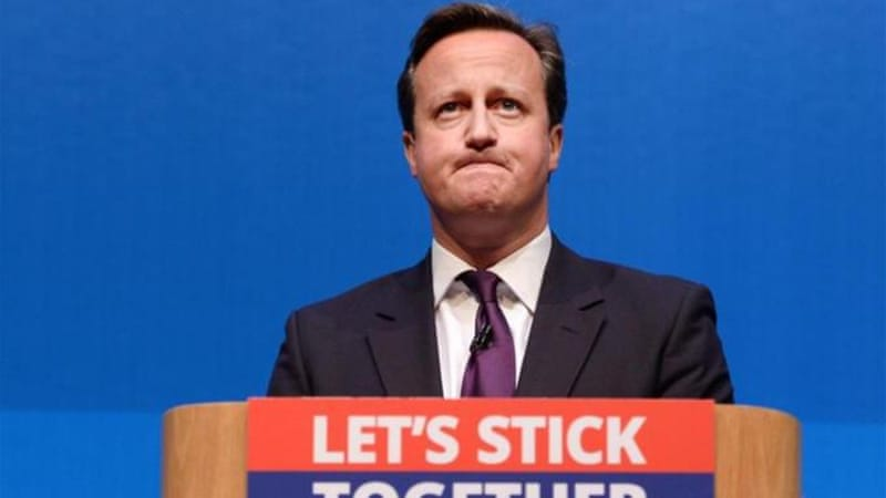 David Cameron appealed to half a million undecided Scots to reject independence [EPA]