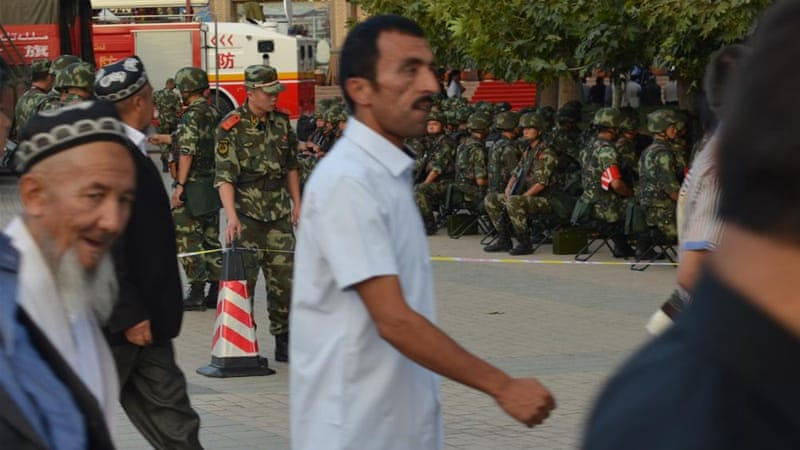 Activists said China's repressive policies have provoked Muslim Uighur unrest in Xinjiang [Al Jazeera/Brent Crane]