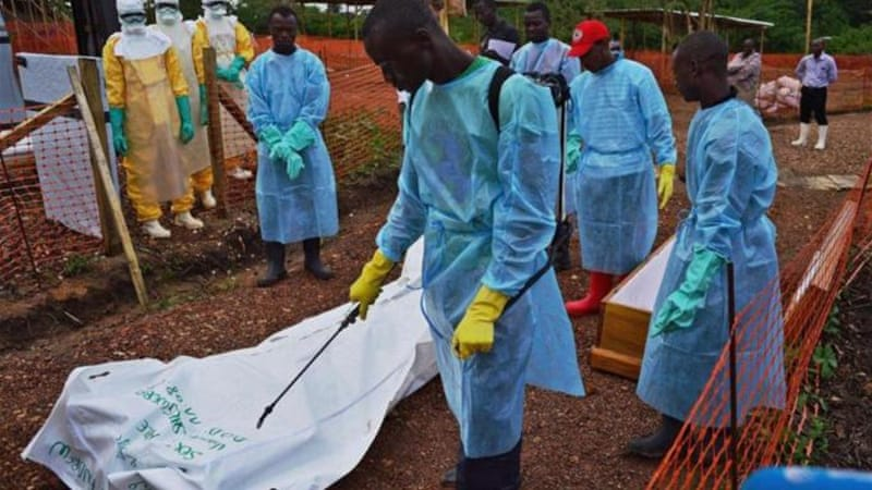 Workers say they haven't been paid bonuses for handling Ebola victims [AFP]