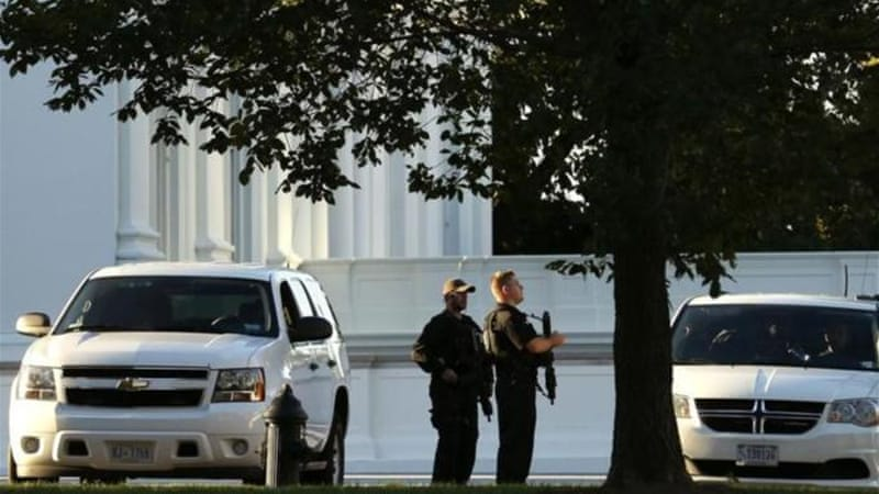 In September, an intruder armed with a knife jumped the White House fence and entered the building [Reuters]