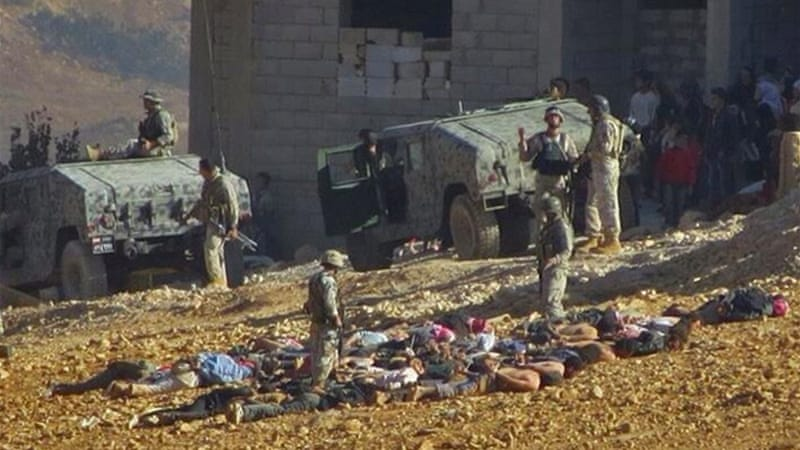 Activists in Arsal distributed pictures of the army detaining suspected fighters