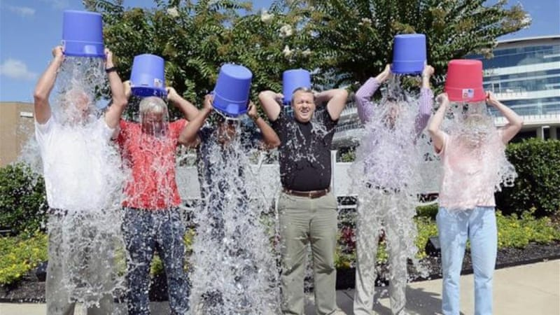 The Ice Bucket Challenged raised more than $100m in one month for ALS charities [AP]