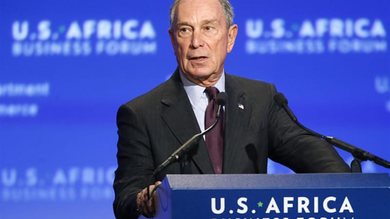 Michael Bloomberg's fortune is estimated at more than $32bn [Reuters]