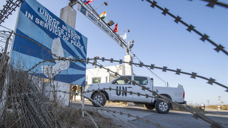 UN soldiers were recently captured by Syrian rebel groups at the Quneitra crossing in the Golan [Getty Images]