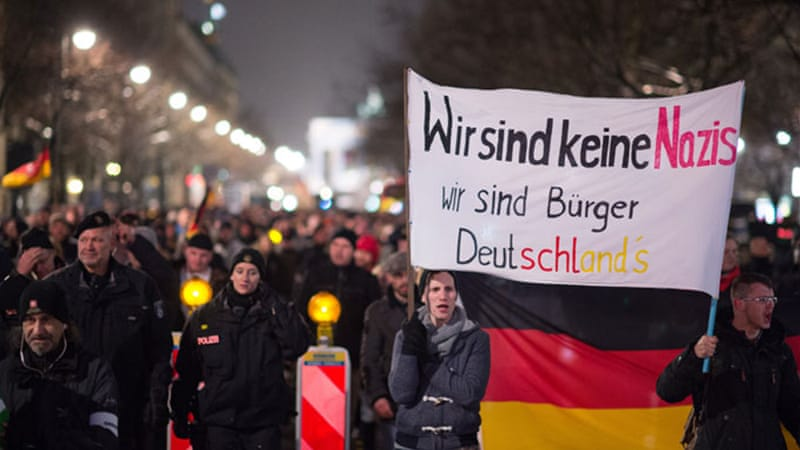 The anti-Islamic PEGIDA movement has grown exponentially and spawned copycat groups nationwide [AP]