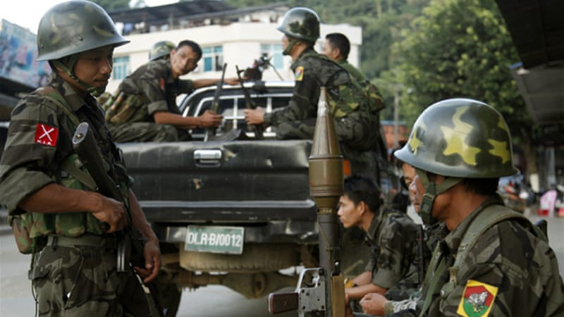 Around 100,000 people have been displaced by fighting in Kachin state [AP]