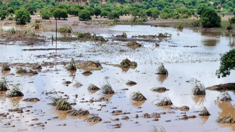 The heavy rains washed away plantations, roads and destroyed power lines in Malawi [AFP]