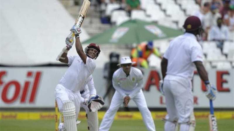 Johnson, who scored 54, said it had been the best day of the series for West Indian batsmen [AFP]