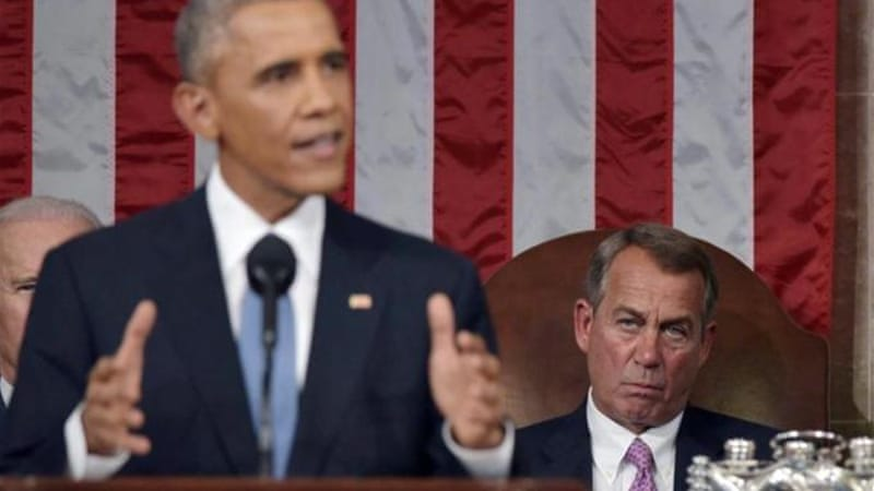 Boehner's invitation came a day after Obama vowed to veto Iran sanctions legislation in State of Union speech [EPA]
