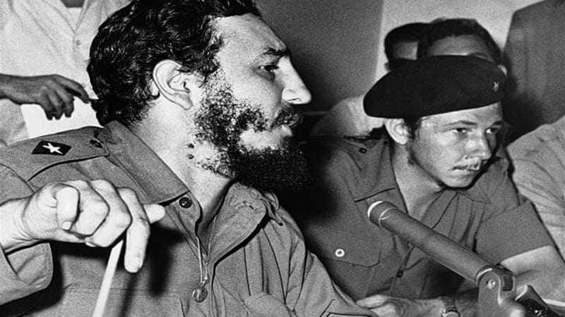 Fidel Castro with brother Raul, then-commander in chief of the armed forces, in an undated photo [AP]