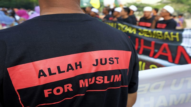 "The government has argued that the use of the word ""Allah"" was the exclusive right of Muslims [EPA]"