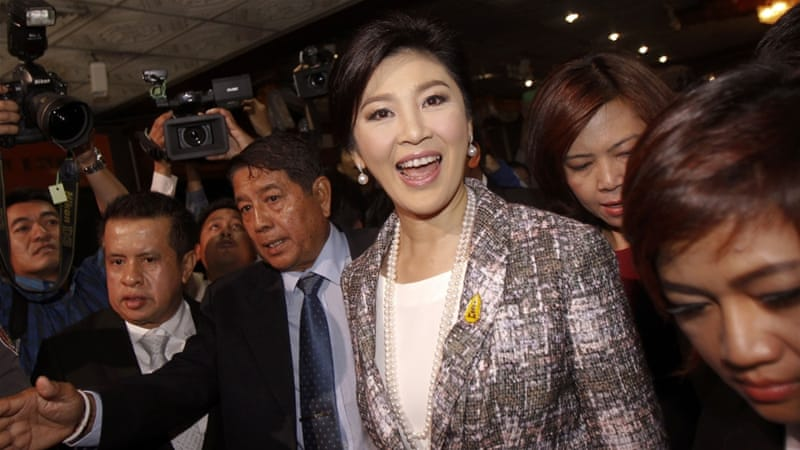 Yingluck could face 10 years in jail if convicted [Reuters]