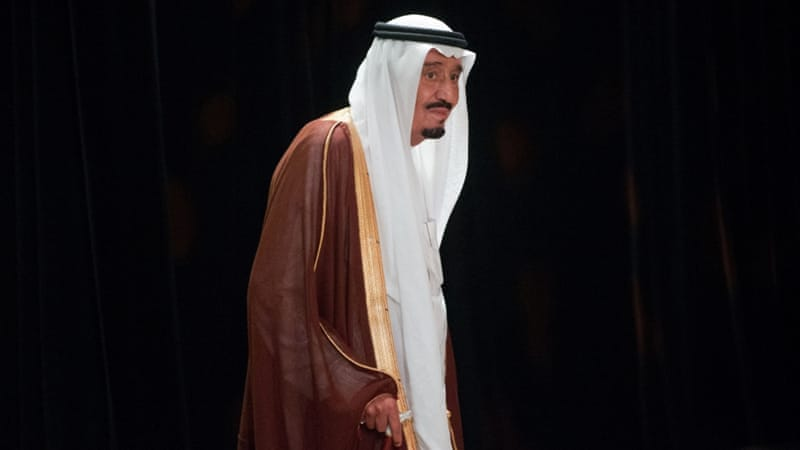 King Salman bin Abdulaziz al-Saud appeared in a televised speech appointing his youngest brother, Muqrin bin Abdulaziz al-Saud, as the official crown prince [AP]