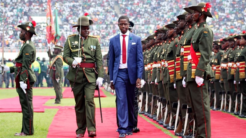 Edgar Lungu assumed the presidency after winning a narrow victory in January's election [EPA]
