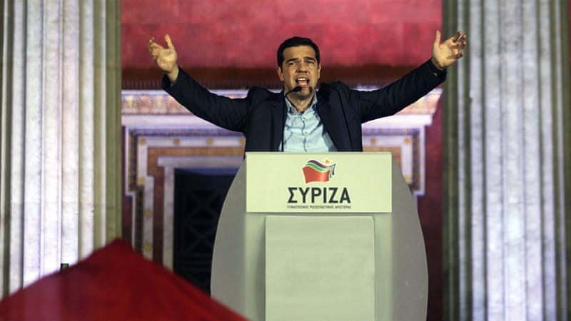 The leftist Syriza party has pledged to renegotiate the terms of Greece's $269bn bailout [EPA]
