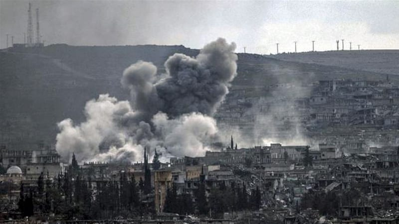 The US-led Coalition provided assistance to rebels fighting ISIL in Kobane with targeted air strikes [Getty Images]