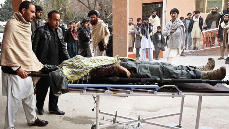 An earlier suicide bombing on Thursday targeting a funeral in east Laghman province killed 16 people [Reuters]