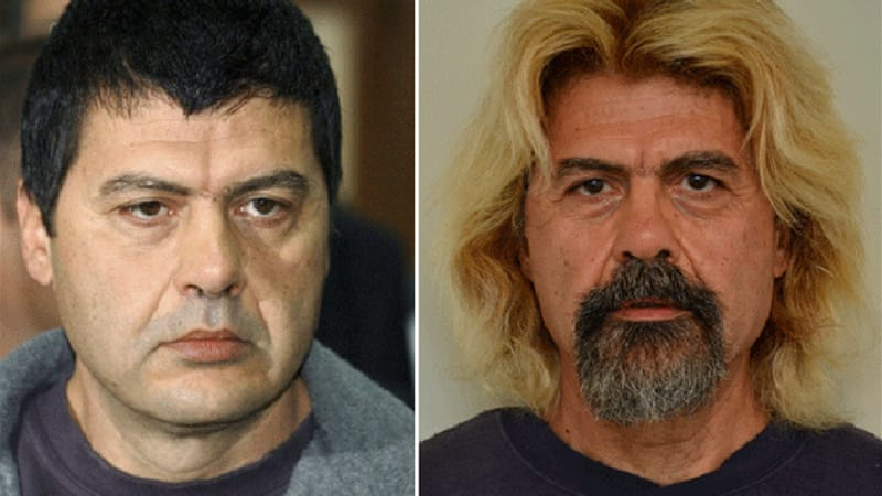 Xiros, found with hair dyed blond, was serving six life terms for his role in the Marxist group when he fled [AP]