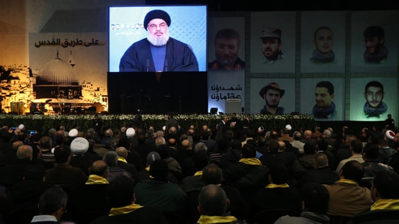 Nasrallah's speech was attended by thousands of supporters in Beirut's southern suburbs [Getty images]