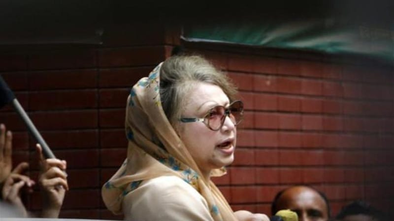 The crisis started when police confined Khaleda Zia to her office after she threatened to lead a mass rally [EPA]