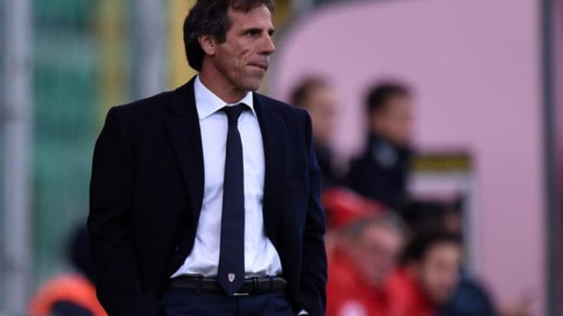 Zola was made aware of the enormity of his task in Sicily on Tuesday [Getty Images]