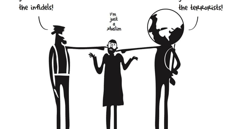 Albaih's cartoons have become a symbol for uprisings [Khalid Albaih]