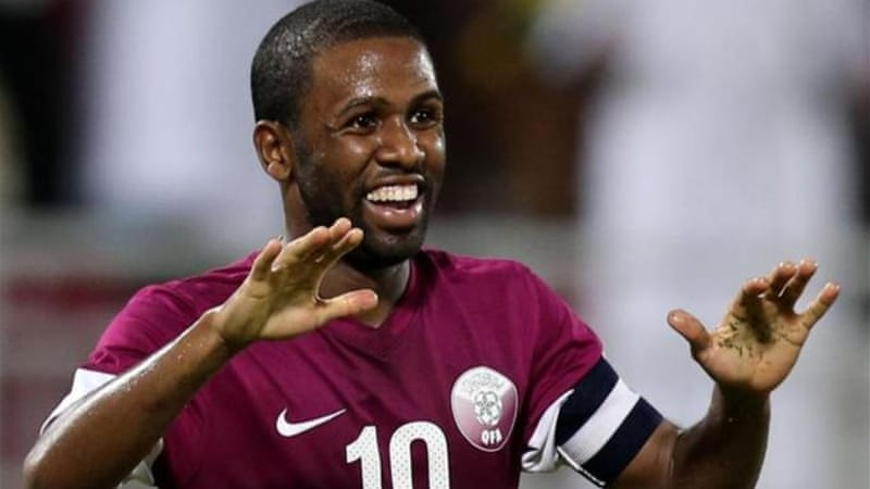 Khalfan scored one of his 22 career goals for Qatar against Asian Cup hosts Australia in October [AFP]