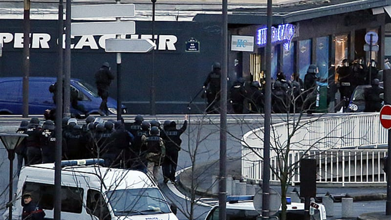 French police forces raided the kosher grocery store in eastern Paris killing the gunman [AFP]