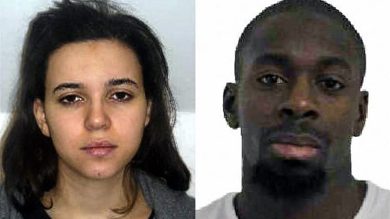 Boumeddiene, left, was the partner of Coulibaly, who was killed after taking over a kosher store [AFP]