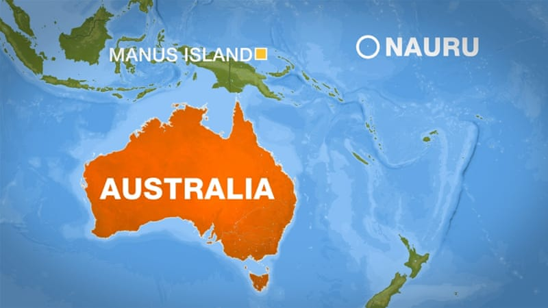 Under Australian law, anyone intercepted trying to reach the country by boat is sent to Manus Island or Nauru [Al Jazeera]