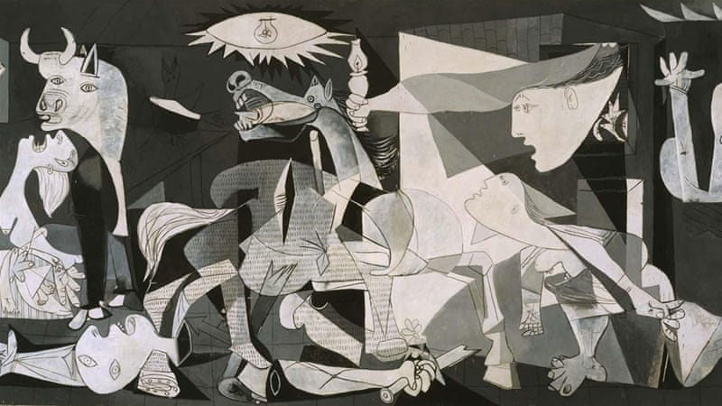 Picasso's 'Guernica' has become so iconic an image of war that a tapestry facsimile was placed in the lobby of the United Nations, writes Dasgupta [Pablo Picasso 1937]