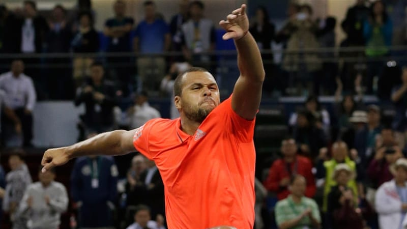 Tsonga recorded his first win over Nadal since the 2011 ATP World Tour Finals [AP]