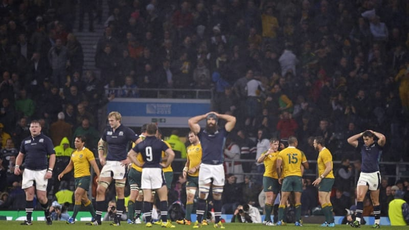 Scotland were leading 34-32 going into the final minute [AP]