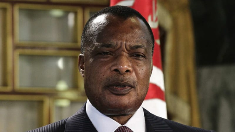 President Denis Sassou Nguesso has led the small central African country in different capacities for more than 30 years [Reuters]