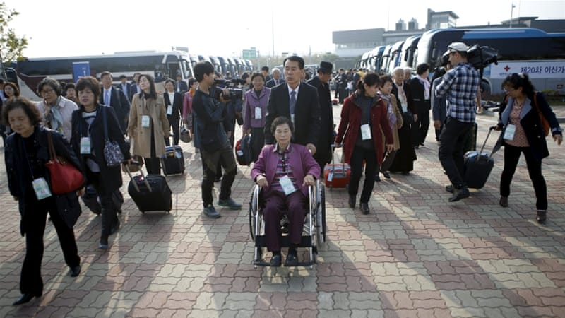 About 66,000 South Koreans are currently registered as members of divided families [Reuters]