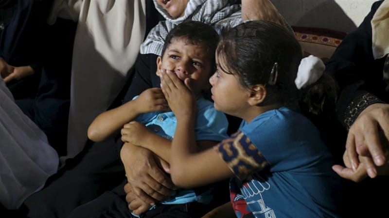 Palestinian children have been badly affected by the ongoing uptick in clashes [Reuters]
