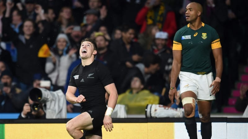 Both tries of the semi-finals were scored by New Zealand [EPA]