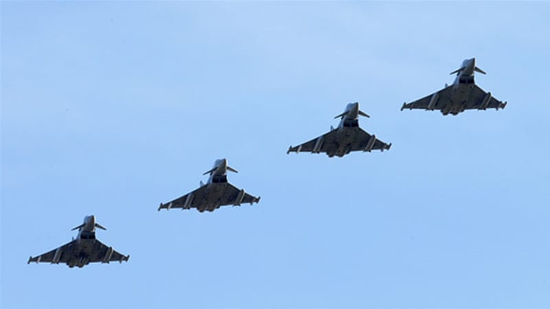 A display of Typhoon aircraft [Getty]