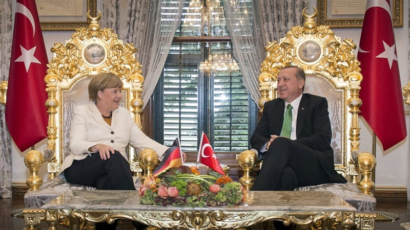 Merkel seemingly has a solution to an increasingly fraught problem, while Erdogan is able to present himself as an indispensable statesman in the run-up to an election, writes Malik [Reuters]